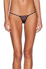 Tricot Dot Thong in Black