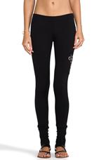 Grommet Loungewear Zip Cuff Legging in Black