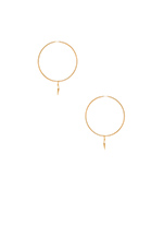 Shanti Hoop Earrings in Gold