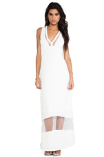 Sheer Genius Maxi Dress in White