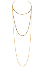 The Horn Necklace in Gold