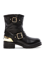 Heart Romance Boot in Nero Black Calf