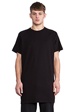 Long Slouch T-Shirt in Black