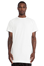 Long Slouch T-Shirt in Maha White