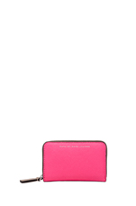Sophisticato Colorblocked Zip Card Case in Knockout pink