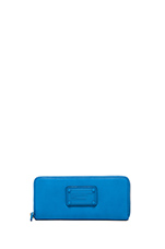 Electro Q Slim Zip Around Wallet in Electric Blue Lemonade