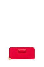Too Hot to Handle Slim Zip Around Wallet in Cambridge Red