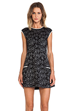 Cassidy Jacquard Sweater Dress in Black Multi