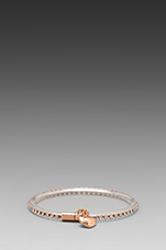 Key Items Magnetic Crystal Bracelet in Clear (Oro)