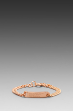 Standard Supply Plaque Chain Logo Bracelet in Rose Gold