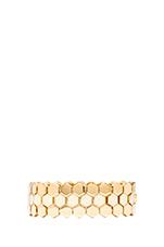 Octi Bolts Enamel Gate Link Bracelet in Cream & Oro