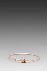 Bolt Tiny Bangle in Rose Gold
