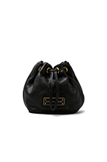 Too Hot to Handle Mini Drawstring in Black
