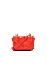 Ball & Chain Bubble Patent Bond Bag in Orange Glow