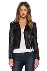 Studded Moto Jacket in Black