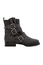 Charlie Moto Boot in Black Leather
