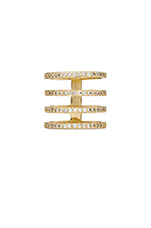 Pave 4 Tier Ring in Gold