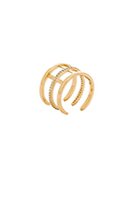Pave Cage Ring in Gold
