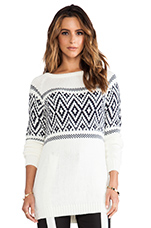 Fiction Sweater in Ivory/ Black