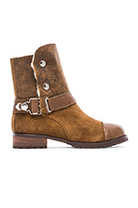Tundra Boot with Sheep Shearling lining in Bark & Cream