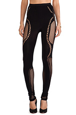Mesh Leggings in Black