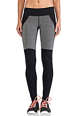 Shadow Legging in Grey Heather & Black with Mesh