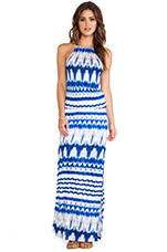 Double Slit Maxi Dress in Crest