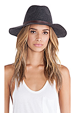 Oh My Darling Wide Brim Hat in Heather Smoke