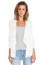 Drape Front Cardigan in Ivory