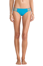 Swimwear Kapalua Multi Skinny String Side Bottom in Caribbean