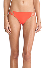 Swimwear Lanai Multi String Loop Side Bottom in Heliconia