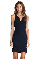 Open Back Sleeveless Dress in Navy