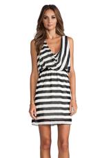 Striped Sleeveless Dress in Black & White