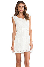 Cap Sleeve Lace Dress in White