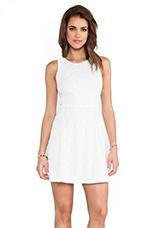 Open Back Racerfront Dress in White