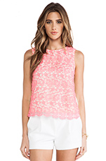 Lace Front Tank in Pink