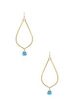 Cayla Earrings in Gold & Aqua