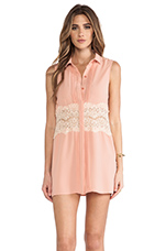 Spread Your Wings Shirt Dress in Blush