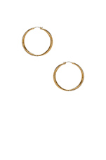 Brilliance Hoop Earrings in Gold