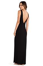 Langley Deep V Back Maxi Dress in Black