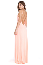 Gage Deep Back Maxi Dress in Dreamsical