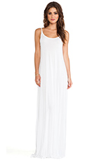 Gage Deep Back Maxi Dress in White