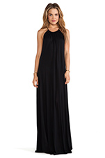 Pedro Maxi Halter Dress in Black