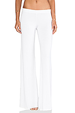 Derby Wide Leg Pant in White