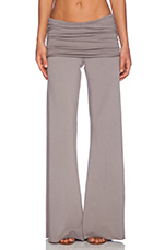 Costa Fold Over Bell Pant in Lead