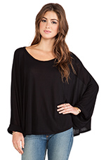 Felix Oversized Cape Tee in Black