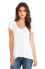 Newman V Neck Tee in White