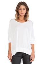 Fred Long Sleeve Cape Top in White