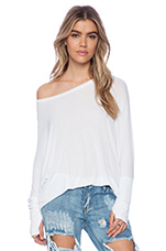Branson Draped Top in White