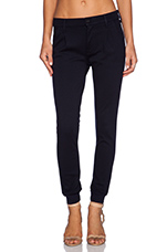 Pleated Trainer Pant in French Kissing